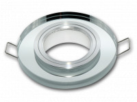 LED line® downlight glass round silver 90x26x10mm(65mm)