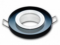 LED line® downlight glass round black 90x26x10mm(65mm)